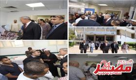 محافظ قنا يطمئن علي المصابين في حادث بالكيلو 15 بطريق قنا / سوهاج الصحراوي الشرقي